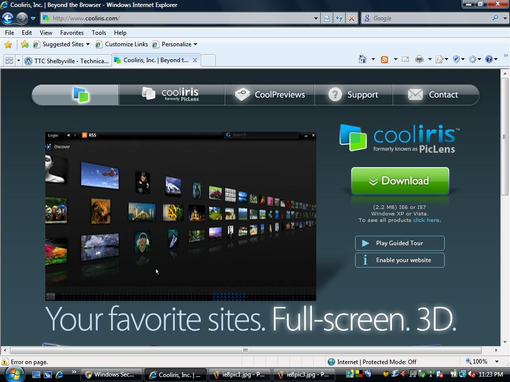 cooliris pour internet explorer
