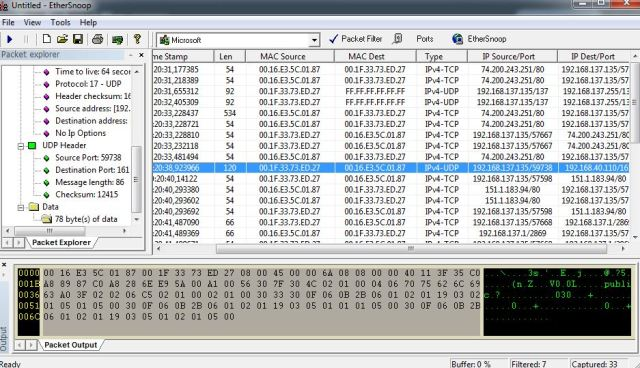 EtherSnoop – Packet Sniffer | TCAT Shelbyville – Technical Blog
