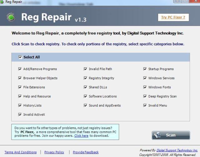 Reg Repair