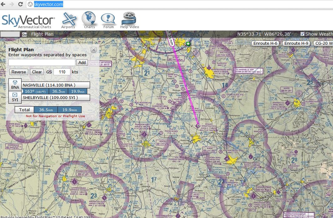 Aeronautical Maps – SkyVector | TCAT Shelbyville – Technical Blog