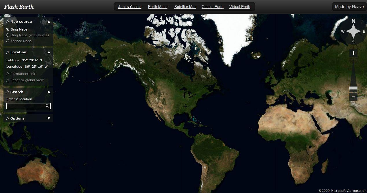 Flash Earth – Bing, Google and Yahoo Maps   TCAT Shelbyville ... on ibm earth maps, bing earth maps, nasa earth maps, google earth maps,