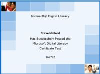 these certificates would be excellent on anyones resume to help show their computer literacy once you finish simple print your certificate or you can