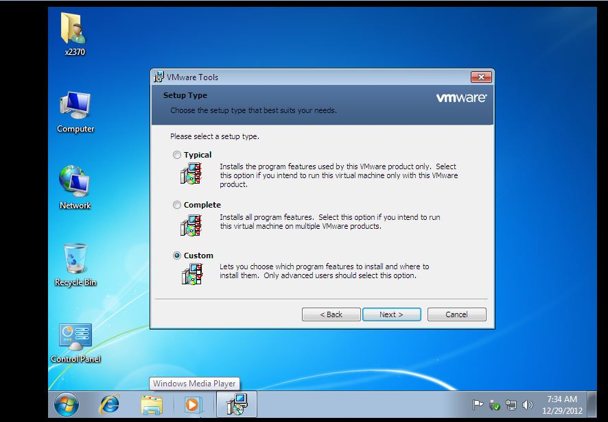 34 VMWare Tools Setting Up