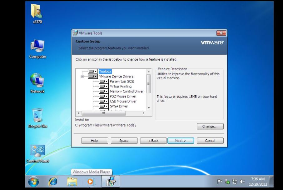 35 vmware custom settings