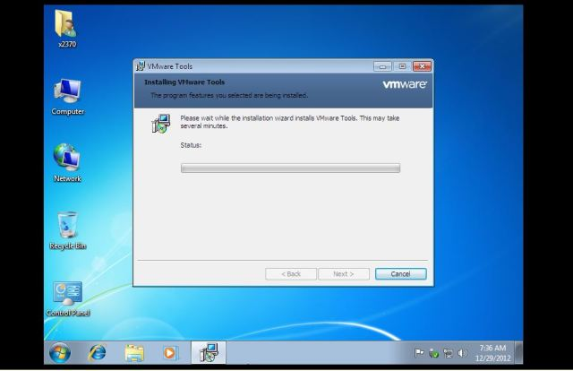 36 vmware tools setting up