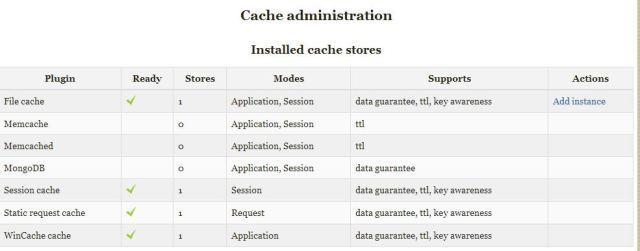 cache admin