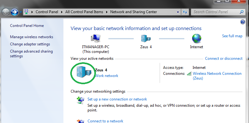 how to see media center on network sharing