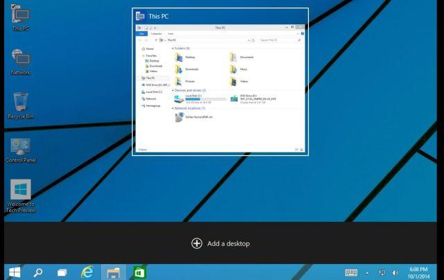 20 Task View Add a desktop