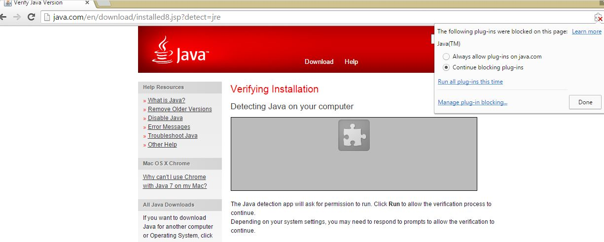 How to enable Java in Chrome after April 2015 update | TCAT