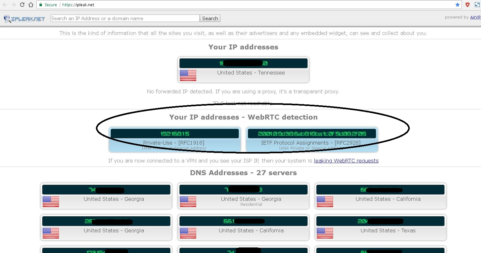 Privacy – Use WebRTC Network Limiter for Chrome   TCAT